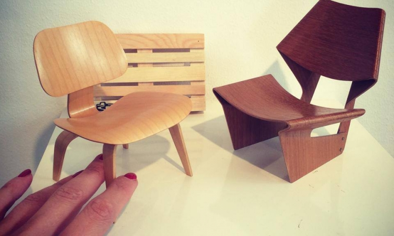 VITRA plywood chairs miniatures for the collector