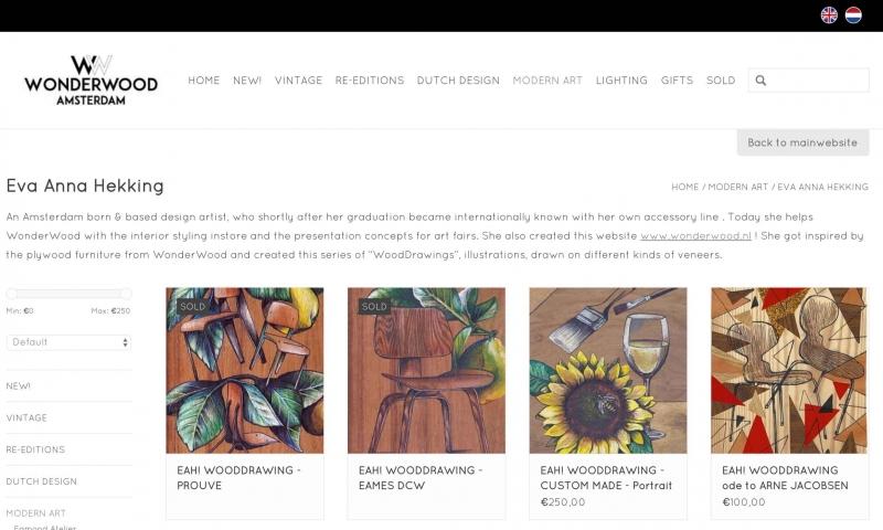 EAH! WoodDrawings by Amsterdam based artist ONLINE !