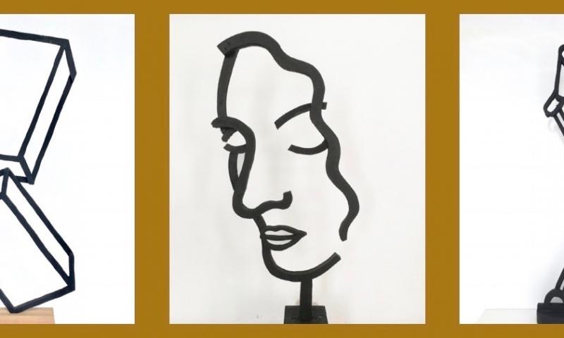 Standing drawings by Jeroen Henneman