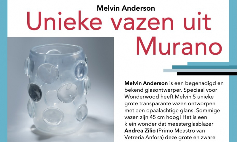 Melvin Anderson: Unique vases from Murano